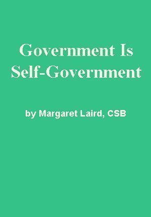 Government Is Self-Government by Margaret Laird, CSB