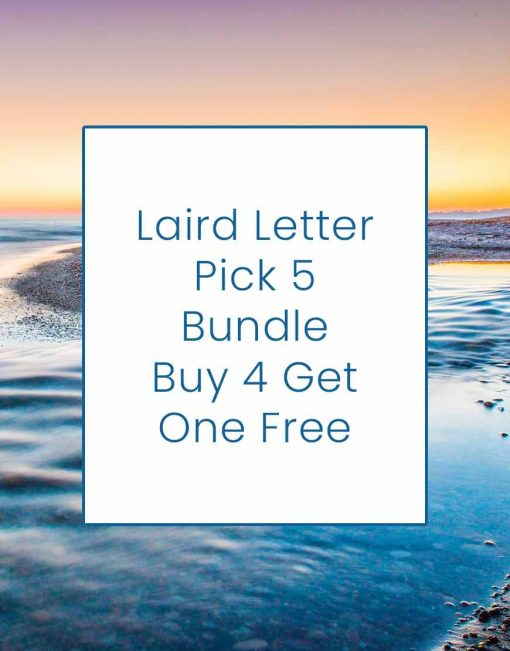Laird Letter Bundle: Buy 4 Get 1 Free