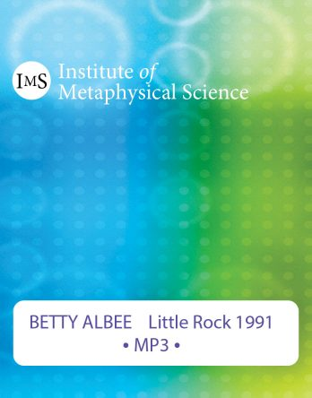 Betty Albee 1991 seminar on Scientific Metaphysics conducted in Little Rock, AR